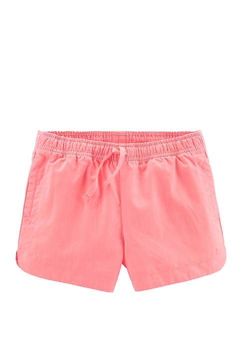 Carter's® Girls 4-6x Easy Pull On Twill Shorts