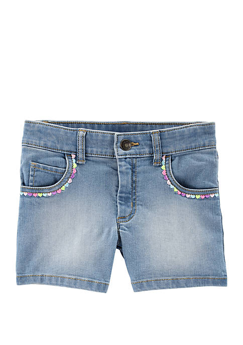 Carter's® Girls 4-6x Embroidered Heart 5 Pocket Denim