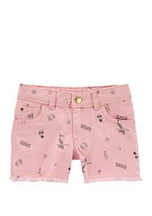 Carter's® Toddler Girls Mermaid Twill Shorts
