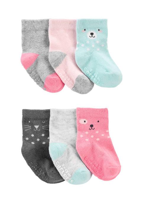 Carter's® Toddler Girls 6 Pack Critter Socks