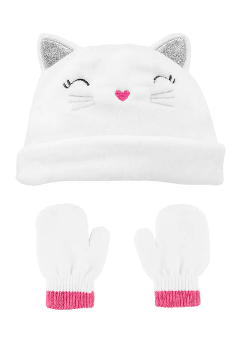 Carter's® 2 Piece Kitty Face Hat and Mitten