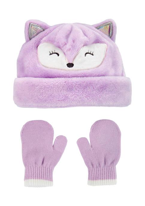 2 Piece Fox Hat and Mitten Set