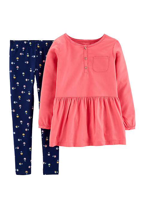 Carter's® Girls 4-8 Woven Peplum Top and Floral