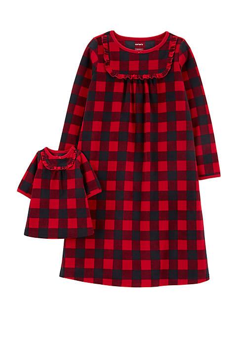 Carter's® Toddler Girls Buffalo Check Doll Gown Dress
