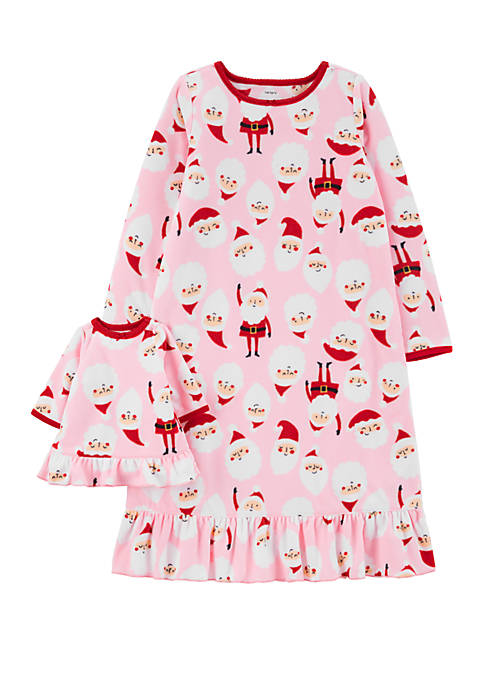 Toddler Girls Santa Doll Gown Set