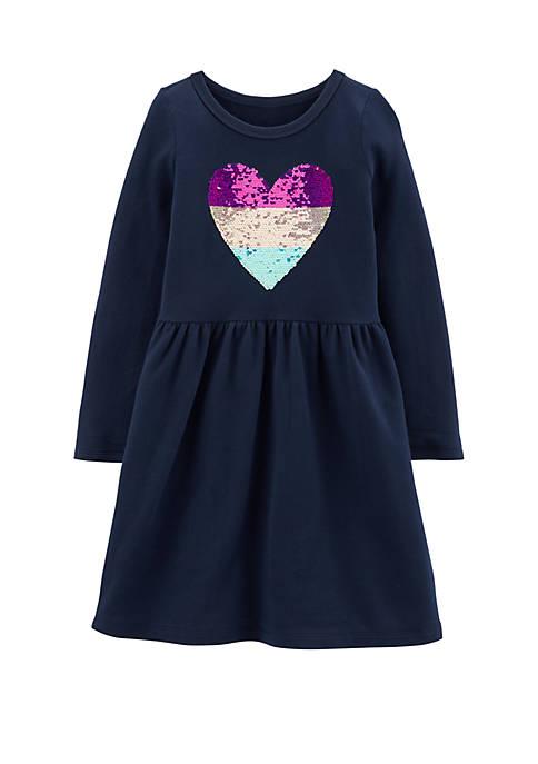 Carter's® Girls 4-8 Sequin Heart Dress