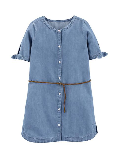 Carter's® Girls 4-8 Denim Shirt Dress