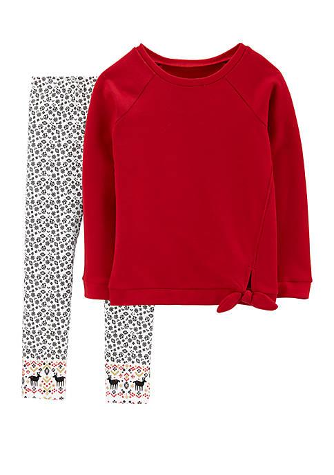 Carter's® Girls 4-8 2 Piece Fleece Top and