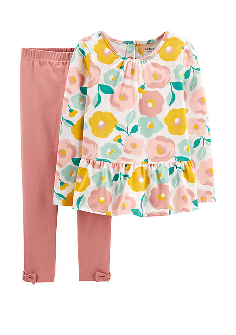 Carter's® Girls 4-8 2 Piece Floral Top and