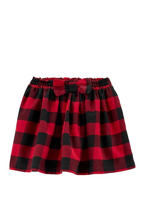Carter's® Girls 4-8 Buffalo Check Twill Skirt
