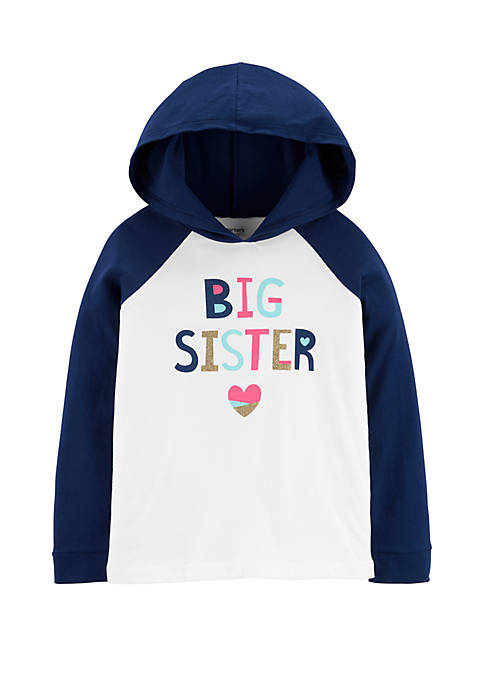 Carter's® Girls 4-8 Glitter Big Sister Hooded T-Shirt