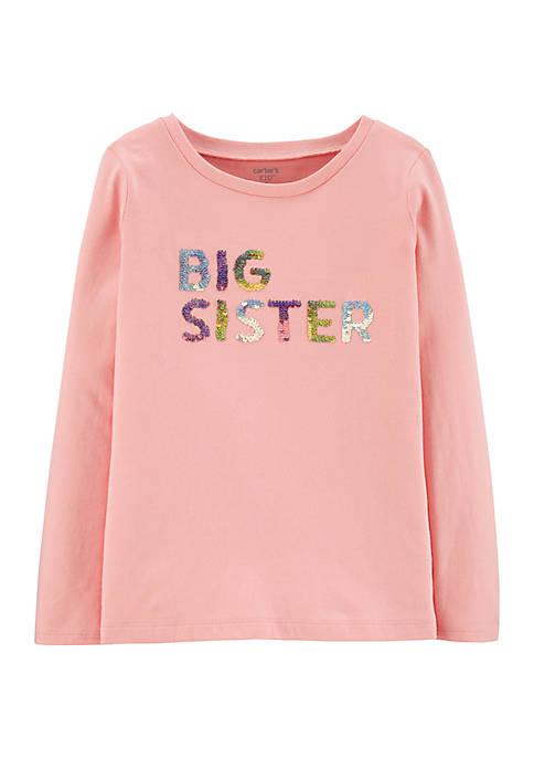 Carter's® Girls 4-8 Sequin Big Sister Jersey T-Shirt