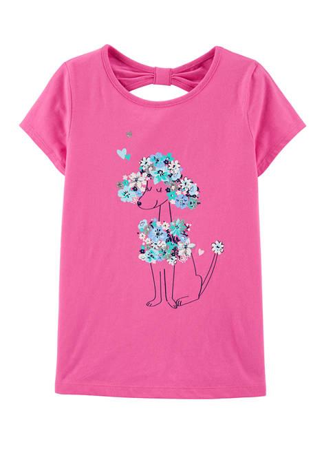 Carter's® Girls 4-8 Floral Poodle Bow Back Jersey