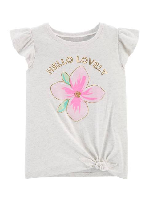 Carter's® Girls 4-8 Hello Lovely Flower Tie Front