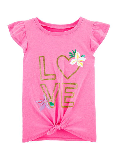 Carter's® Girls 4-8 Glitter Love Tie Front Jersey