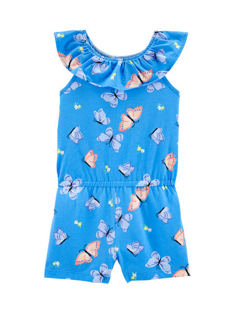 Carter's® Girls 4-8 Butterfly Jersey Romper