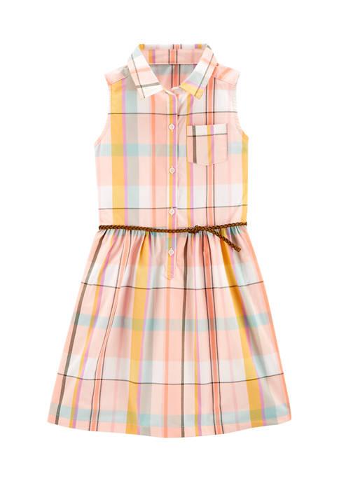Girls 4-6x Multi Plaid Dress