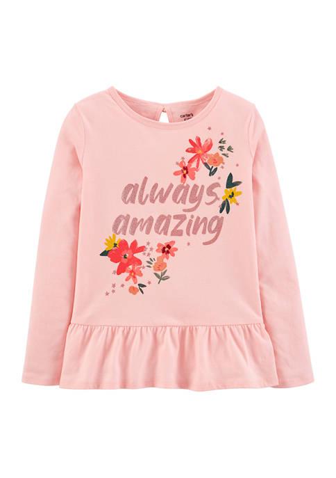Girls 4-8 Pink Amazing Top