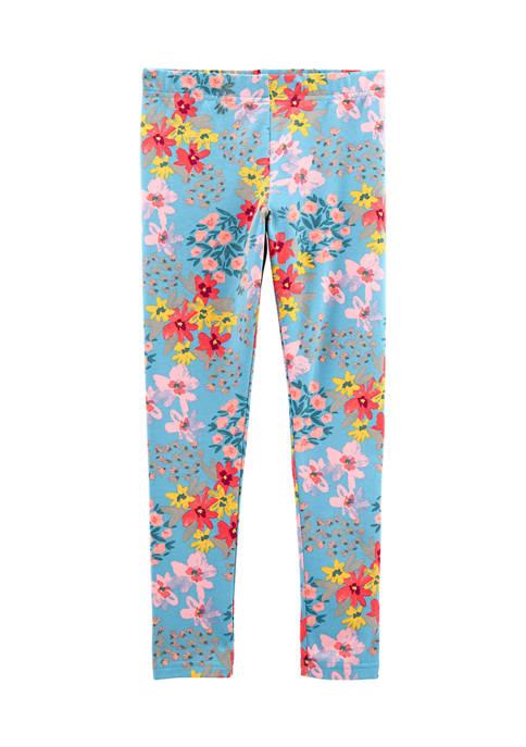 Carter's® Girls 4-8 Green Floral Leggings
