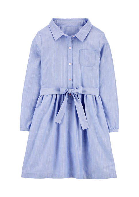 Carter's® Girls 4-8 Chambray Tie Front Dress