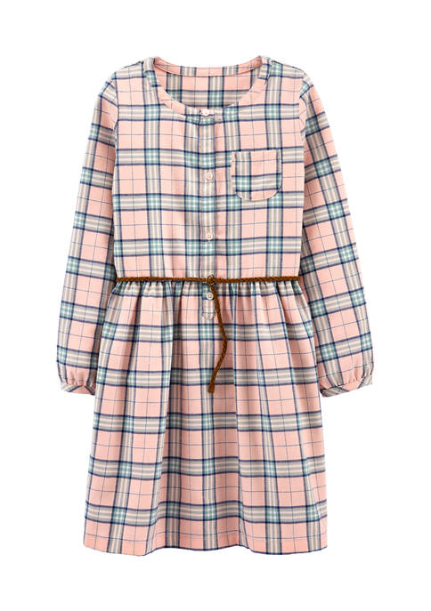 Girls 4-8 Pink Plaid Dress