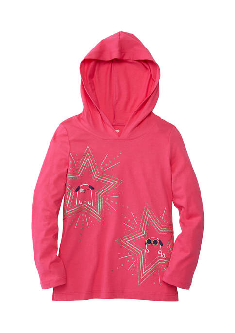 Girls 4-6x Star Cats Hoodie