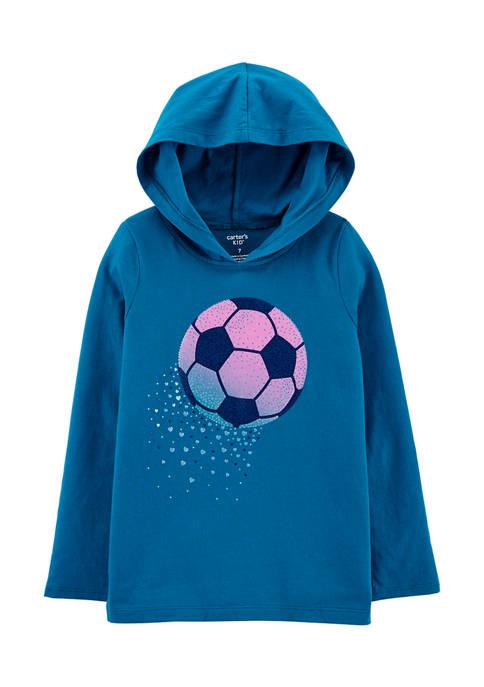 Carter's® Girls 4-6x Long Sleeve Soccer Hoodie