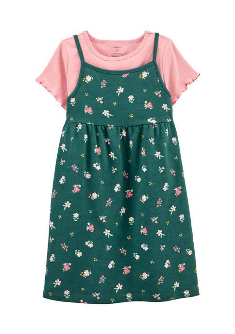 Girls 4-6x Olive 2Fer Dress Set