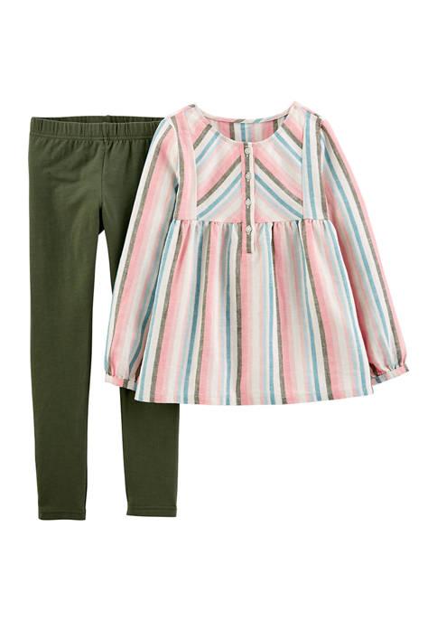 Carter's® Girls 4-6x Multi Stripe Legging Set