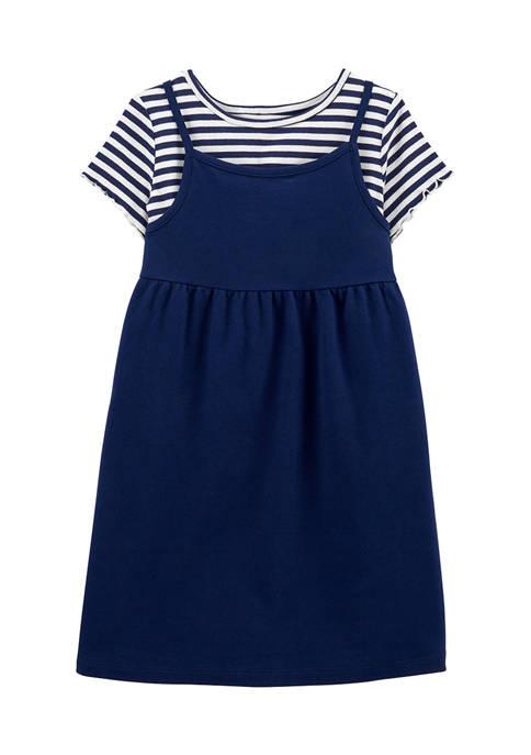 Carter's® Girls 4-6x Navy 2Fer Dress Set