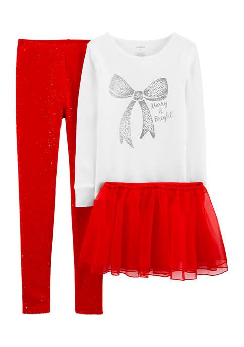 Carter's® Girls 4-6x 3 Piece Loose Fit Pajamas