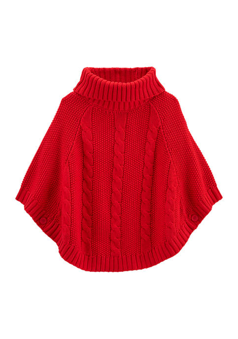 Carter's® Girls 4-6x Cable Knit Poncho