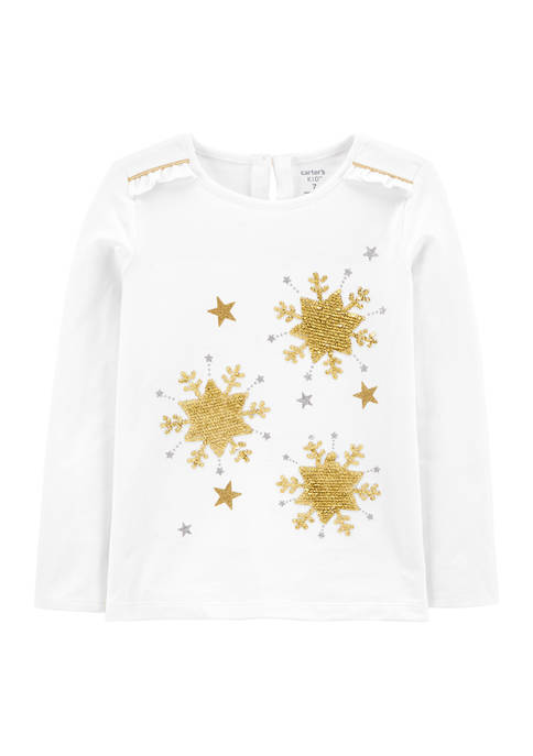 Carter's® Girl 4-6x Sequin Star Graphic Top