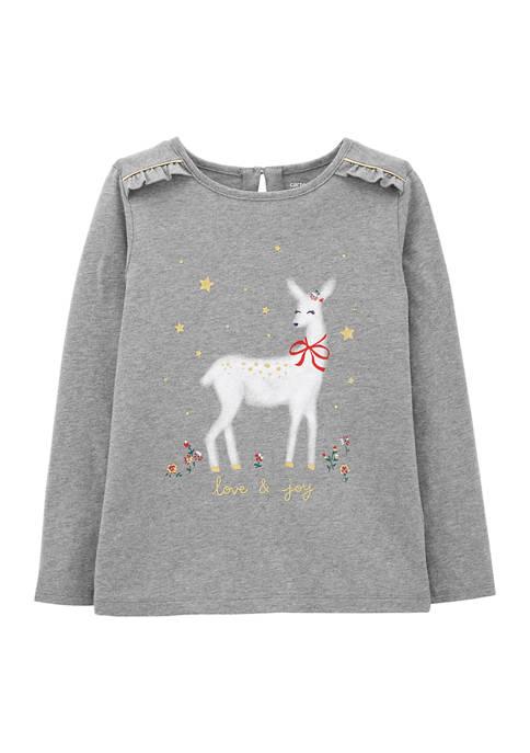 Carter's® Girls 4-6x Reindeer Graphic T-Shirt