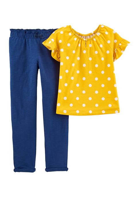 Carter's® Girls 4-8 Short Sleeve Polka Dot Set