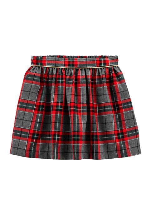 Carter's® Girls 4-6x Holiday Plaid Skirt