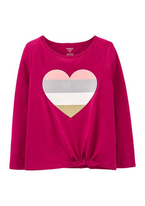 Carter's® Girls 4-6x Long Sleeve Scarlett Heart Top