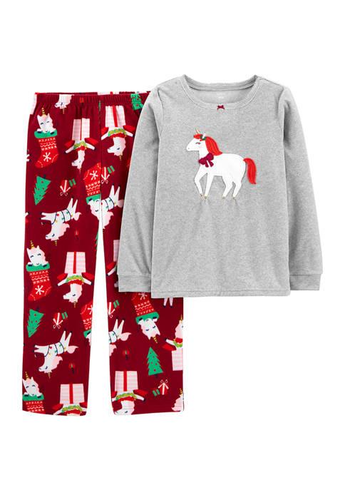 Carter's® Girls 4-6x 2 Piece Unicorn Christmas Fleece