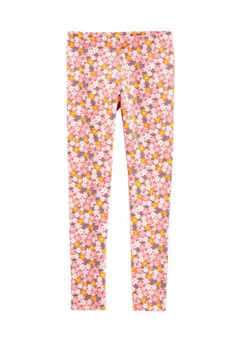 Carter's® Girls 4-8 Pink Floral Leggings