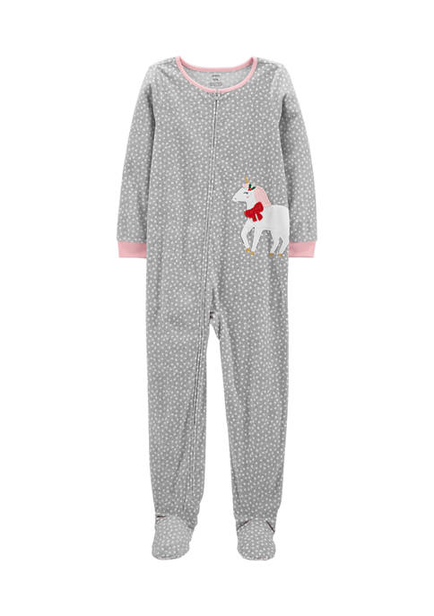 Carter's® Girl 7-16 1-Piece Unicorn Fleece Footie Pajamas