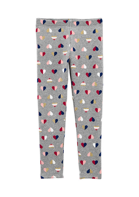 Girls 4-6x Heart Cozy Leggings