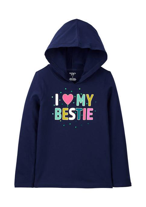 Carter's® Girls 4-6x Navy Bestie Graphic Hoodie