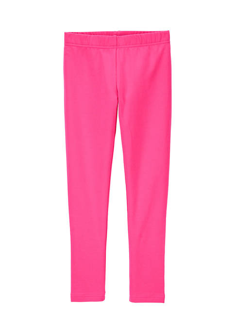 Carter's® Girls 4-6x Solid Pink Leggings