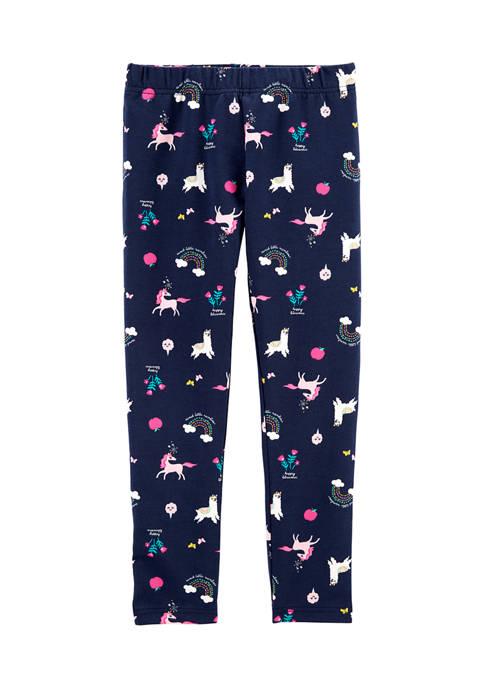 Girls 4-8 Unicorn Leggings