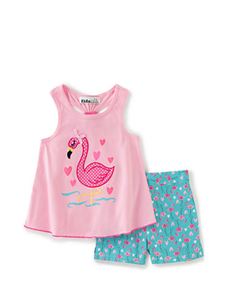 Tommy Hilfiger Girls Flamingo Tank Top Graphic Print New