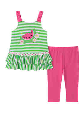 Flamingo Rare Editions Baby at the Beach Flip Flop /& Fish Two Piece Sets