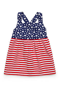 J. Khaki® Flag Babydoll Top Girls 4-6x