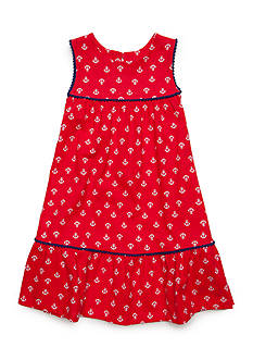 J. Khaki® Anchor Print Dress Girls 4-6x