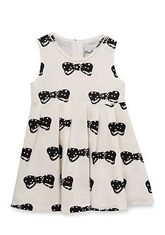 Rare Editions Bow Print Dress Girls 4-6x