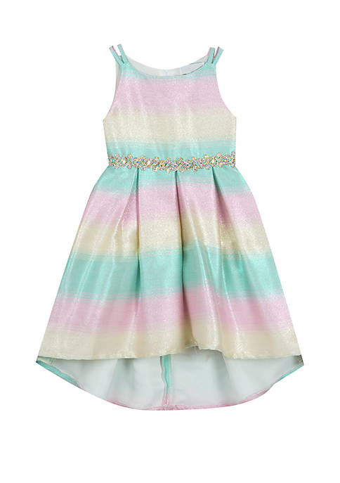 Rare Editions Girls 4-6x Stripe Social Dress